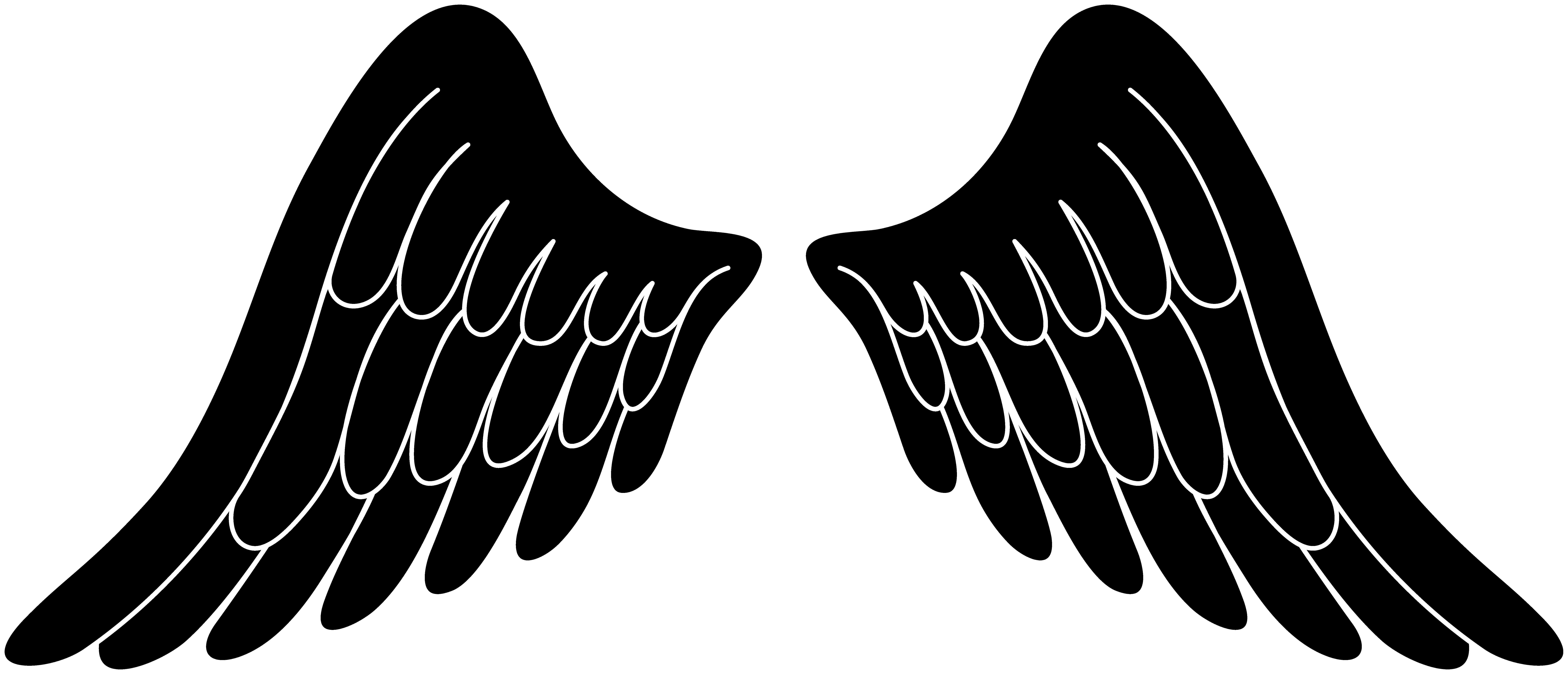 Angel wing clip art free vector of angel wings tattoo free image.