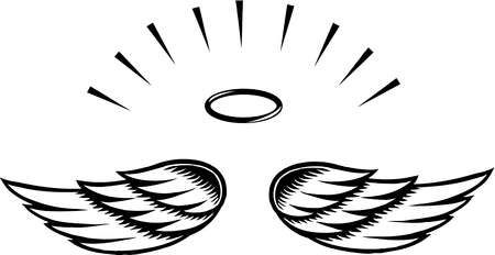 Simple angel wings template angel wing transparent clip art.