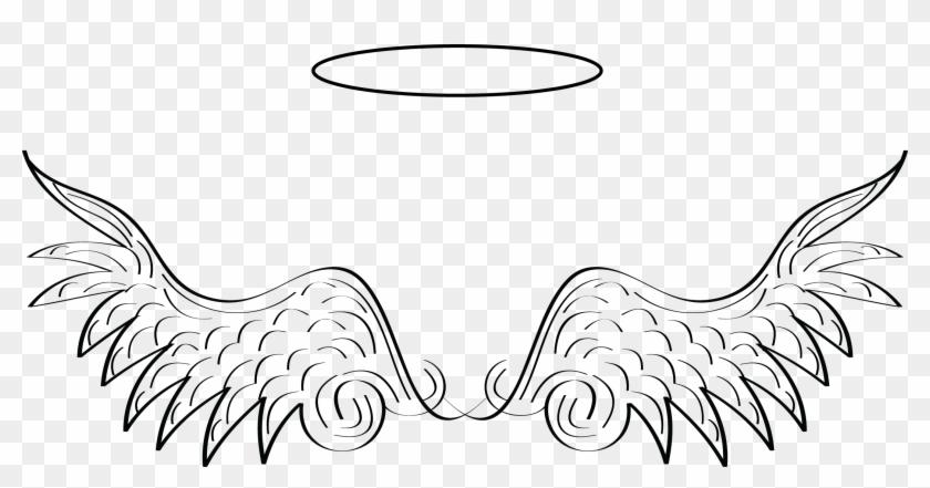 Angel Wings Clip Art, White Angel Wings, Halo Tattoo,.