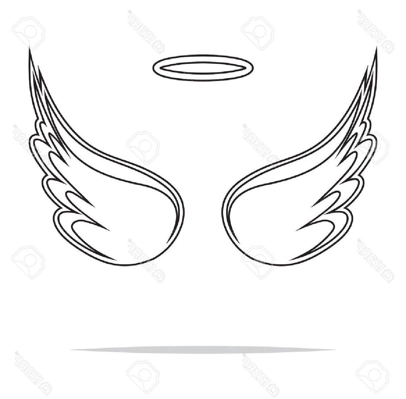 Best Free Angel Wings Heart Clipart Black And White For.
