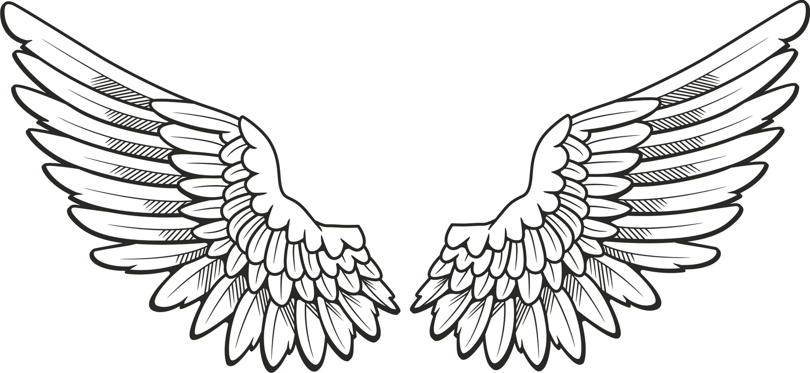 Angel wings clipart black and white 2 » Clipart Portal.