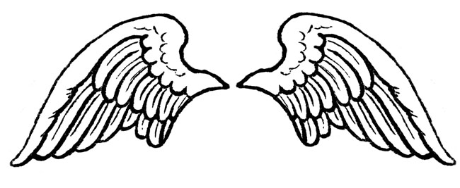 Free Angel Wings Black And White, Download Free Clip Art, Free Clip.