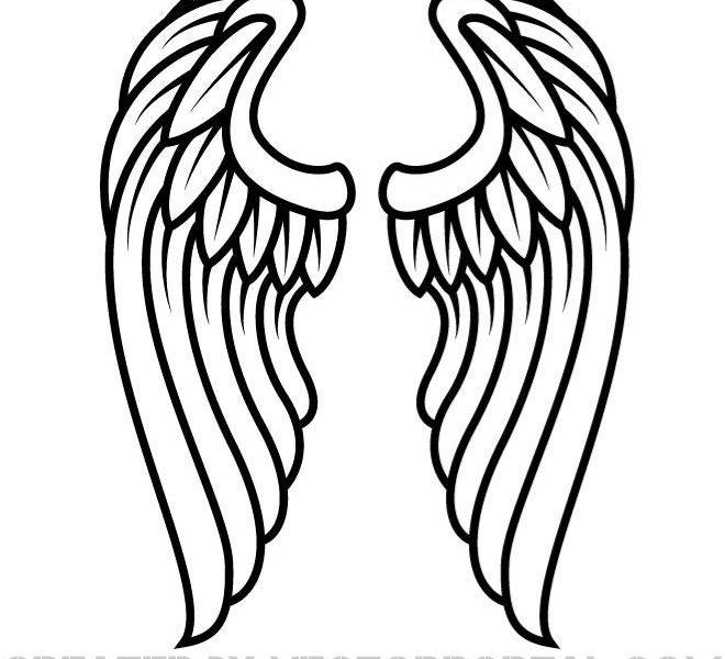 Angel Wings Drawing.