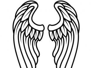 Wings Outline Clip Art Free Vector.