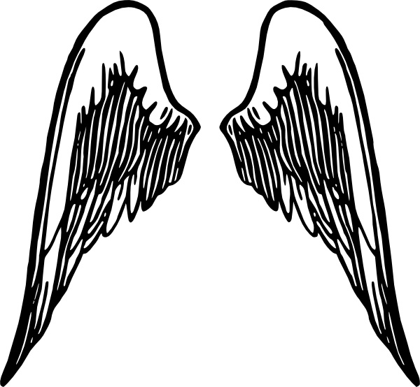 Angel Wings Tattoo clip art Free vector in Open office drawing svg.