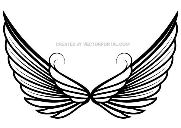 Angel wings free angel wing clip art free vector for free download 3.