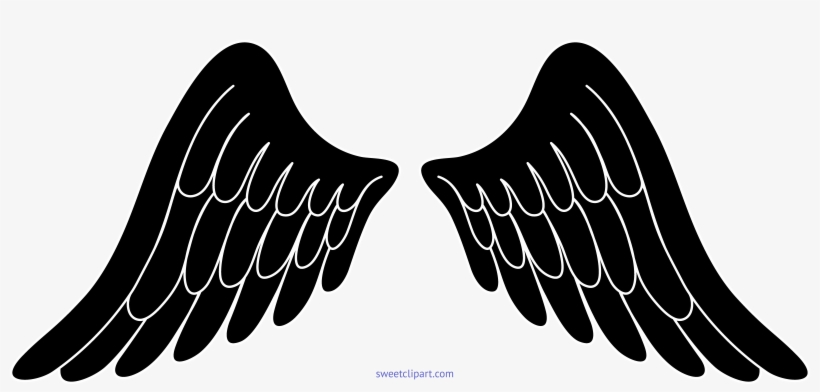 Angel Wings Black And White.
