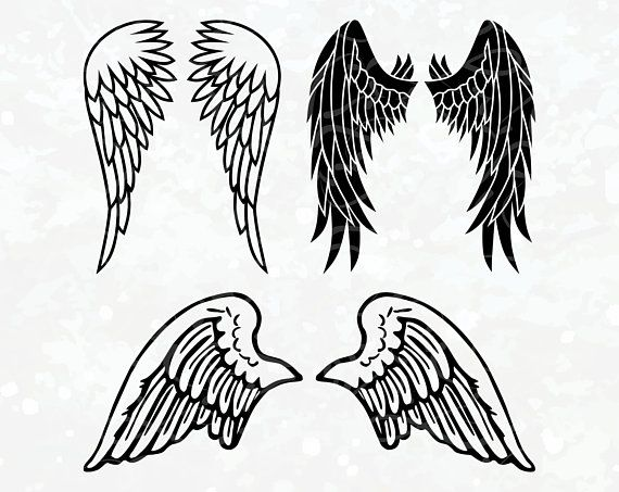 Wings SVG Angel Wings Clipart SVG instant download for.