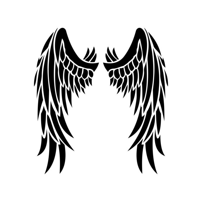 Angel Wings graphics design SVG EPS Dxf Png Cdr Ai Pdf Vector Art Clipart  instant downloads Digital Cut Print Files Cricut Decal Silhouette.