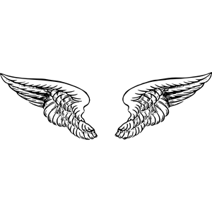 Angel wings 4 clipart, cliparts of Angel wings 4 free.