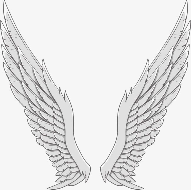 Silver Angel Wings, Angel Clipart, Wings Clipart, Wing PNG.