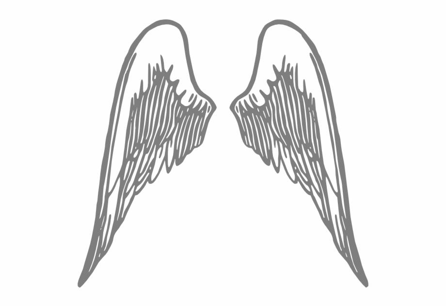 Angel Wings Grey Png.