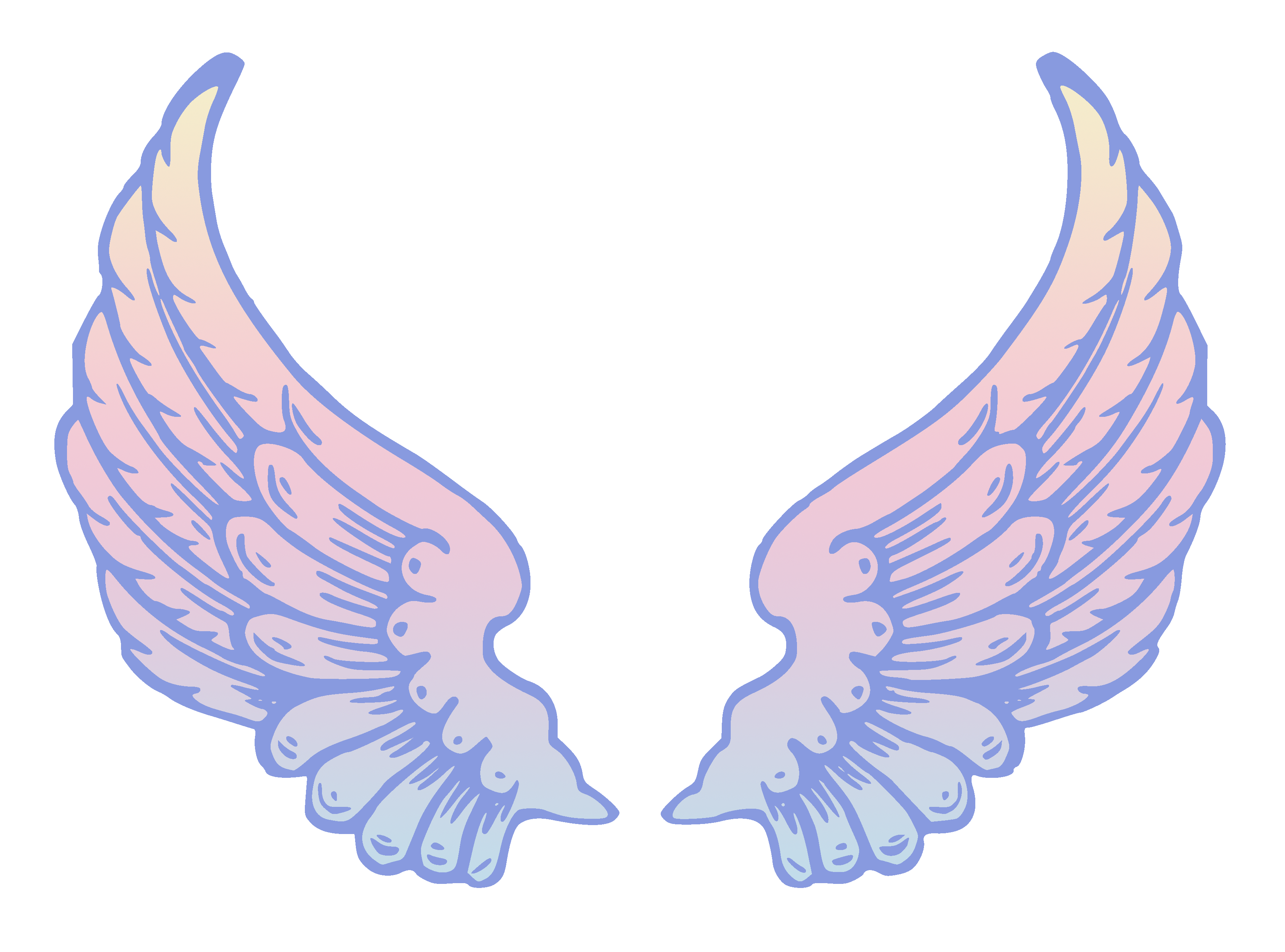 Public Domain Pastel Angel Wings.