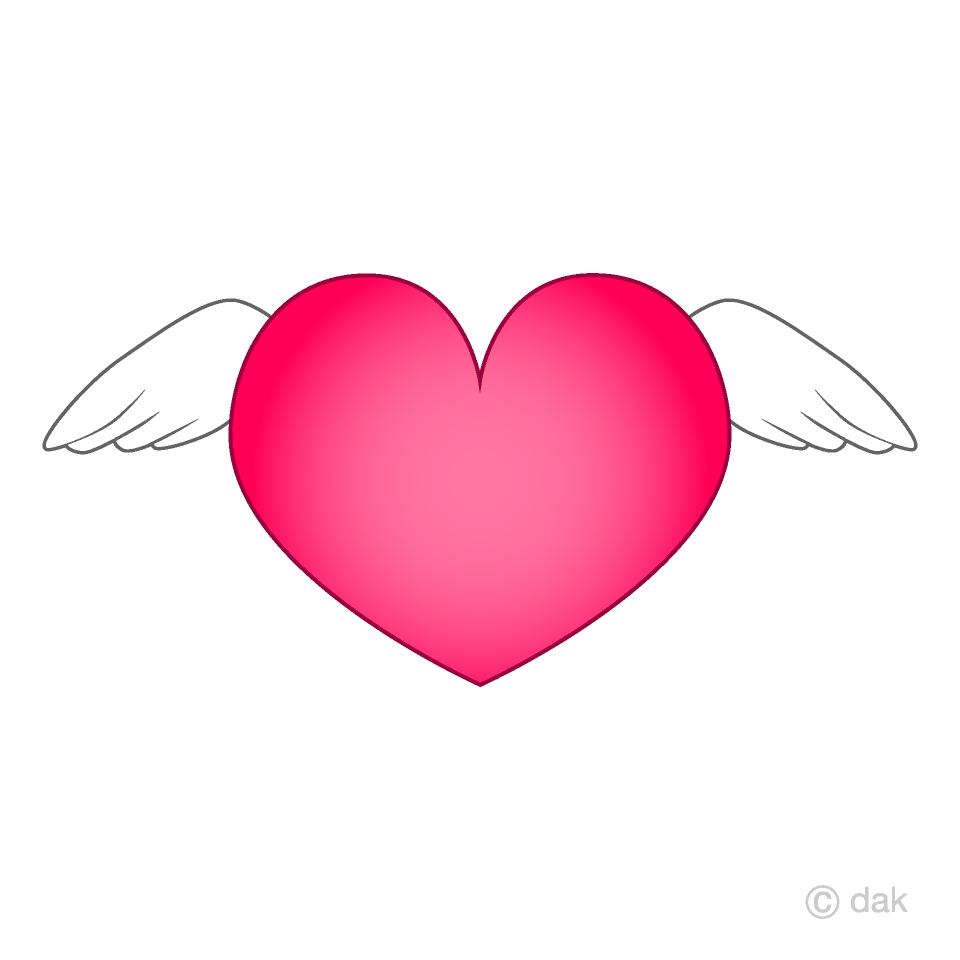Free Angel Wings Heart Clipart Image|Illustoon.
