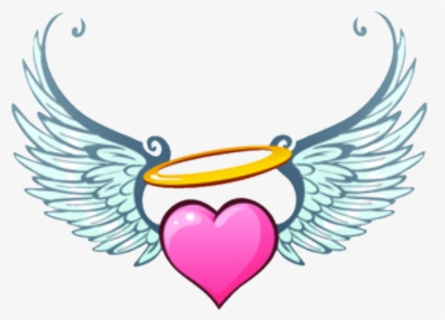 Free Heart With Wings Clip Art with No Background.