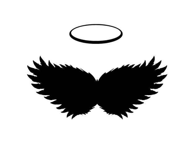 Black angel Wings and Halo Vector, PNG and JPGs included.
