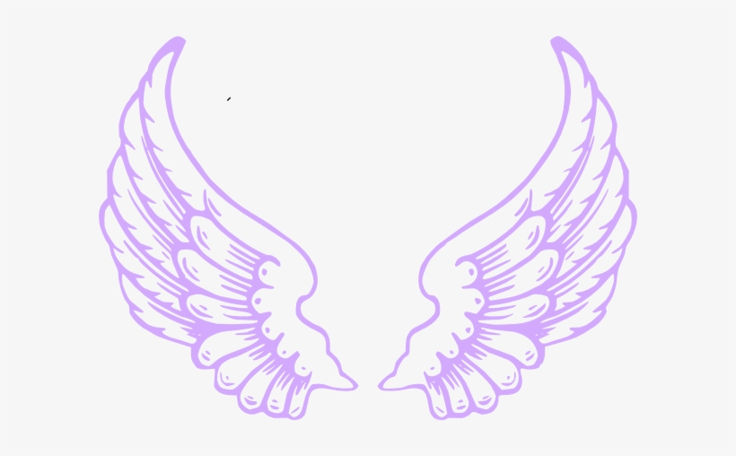 Purple Angel Wings Clip Art.