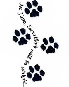 paw print with angel wings tattoo.