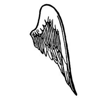 1775 Angel Wings free clipart.