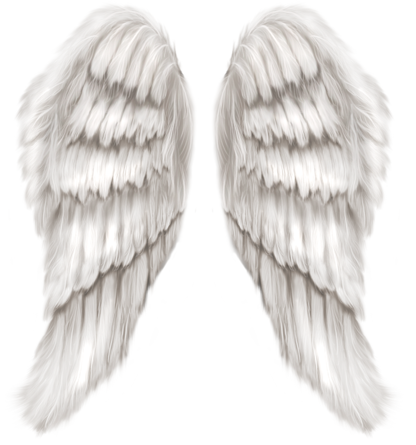White Angel Wings Transparent PNG Clip Art Image.