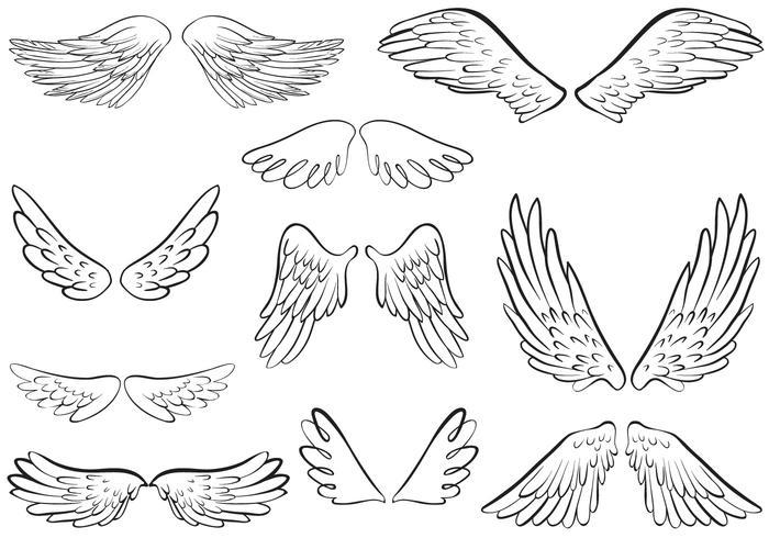 Angel Wings Vectors.