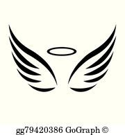 Angel wings with halo clipart 2 » Clipart Portal.