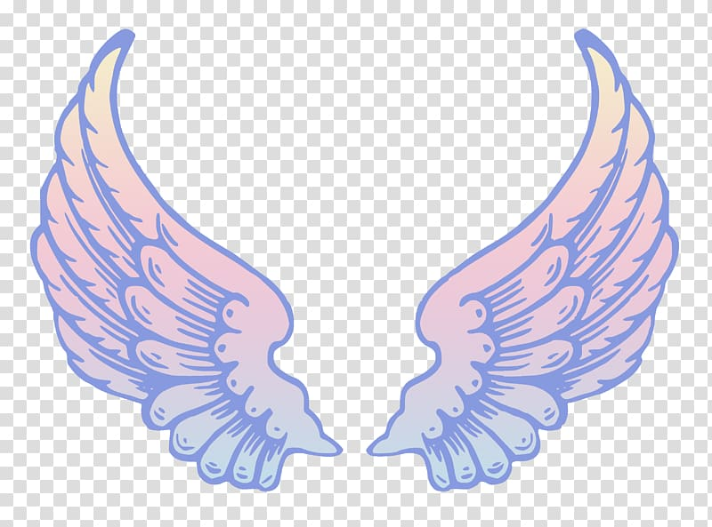 White wings illustration, Angel Drawing , Heaven Halo transparent.