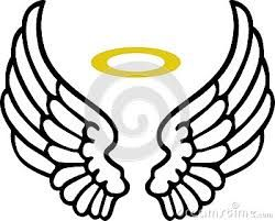 Image result for easy to draw angel wings halo.