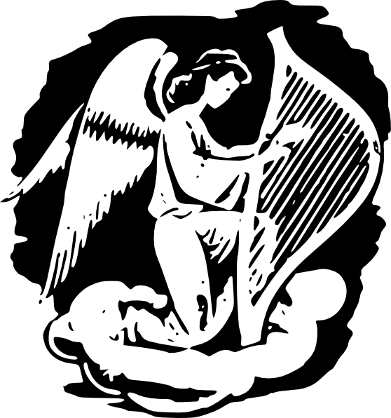 Angel Playing Harp Clip Art at Clker.com.