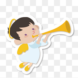 Angel Playing Trumpet Clipart.