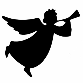 Angel Silhouettes Clipart.