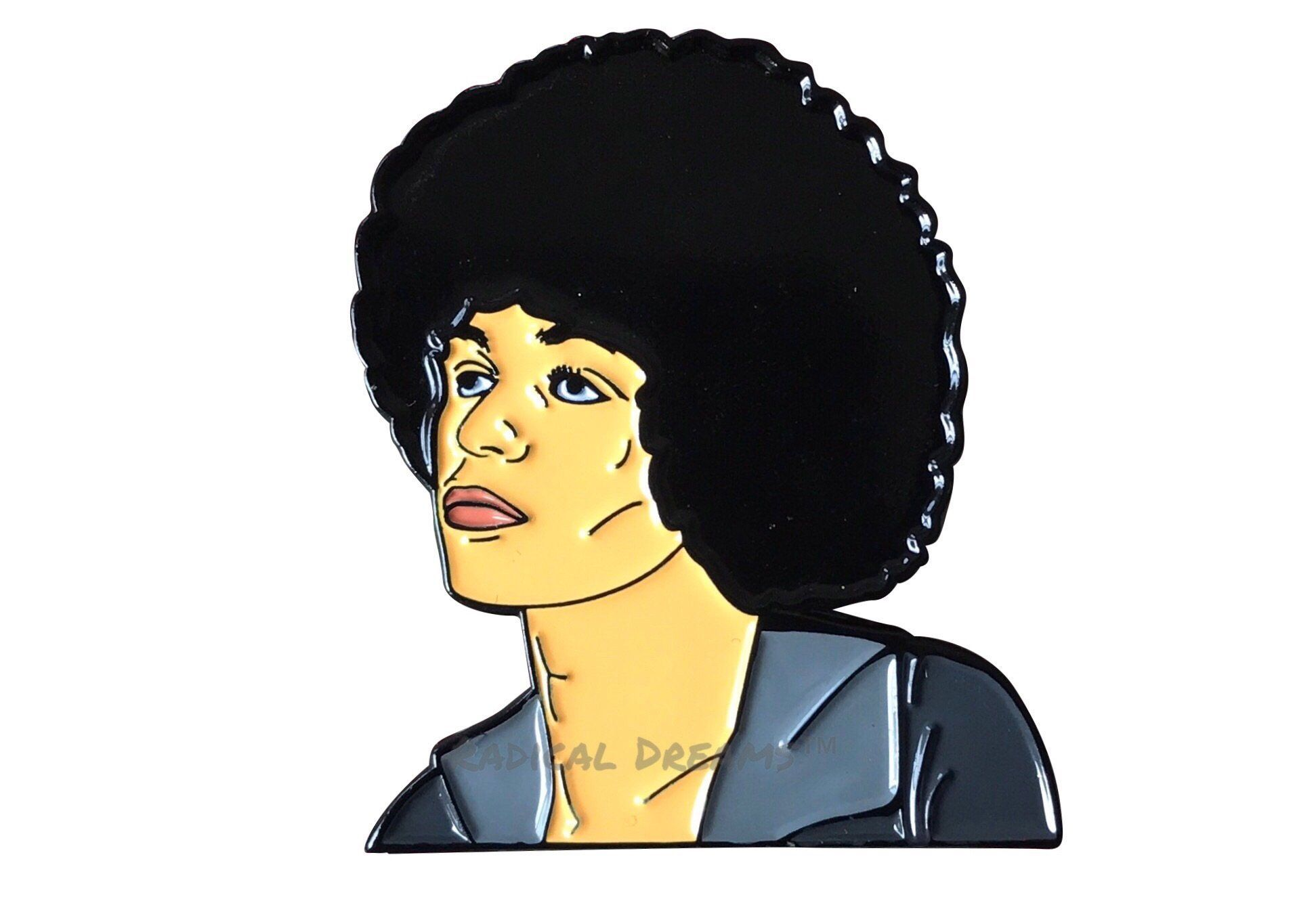 Angela Davis Lapel Pin.