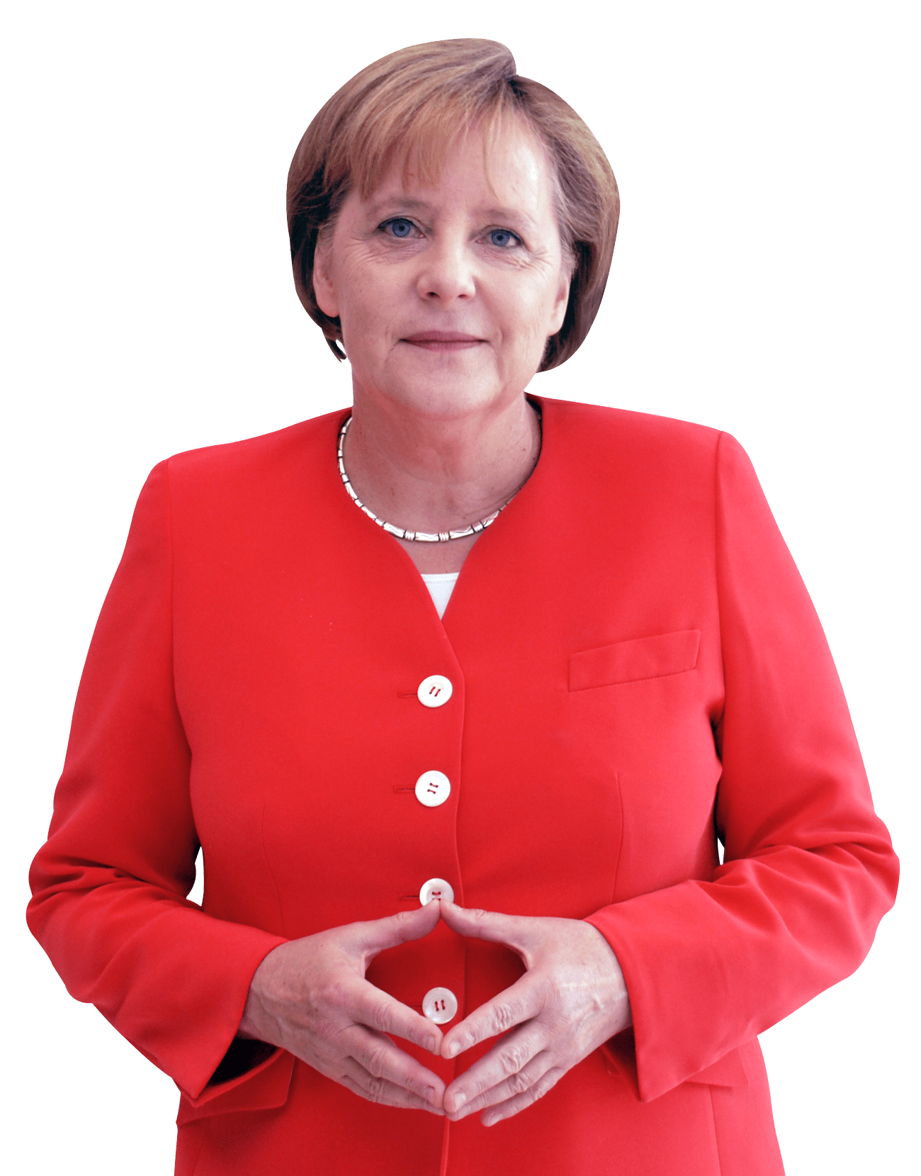 Angela Merkel Smiling transparent PNG.