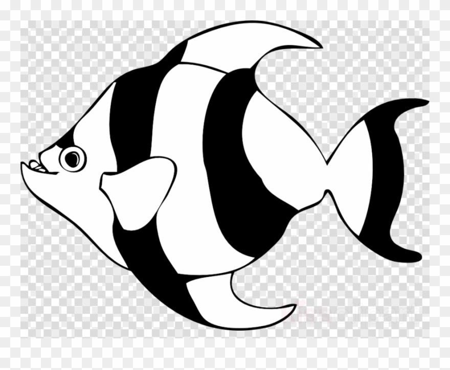 Black And White Fish Clipart Angelfish Clip Art.