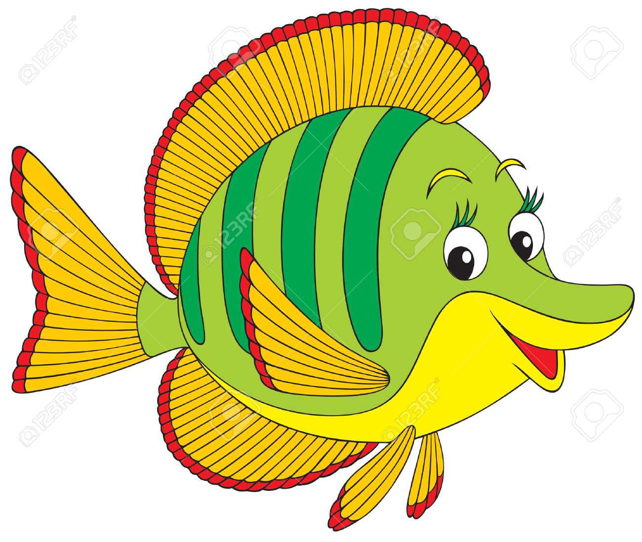 Image of Angelfish Clipart #2962, Angel Fish Clip Art At Vector.