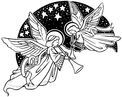 Free Printable Angels Clipart.