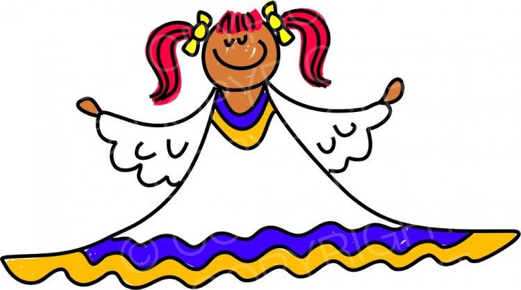 Toddler Art Angelic Kid Clipart Children.