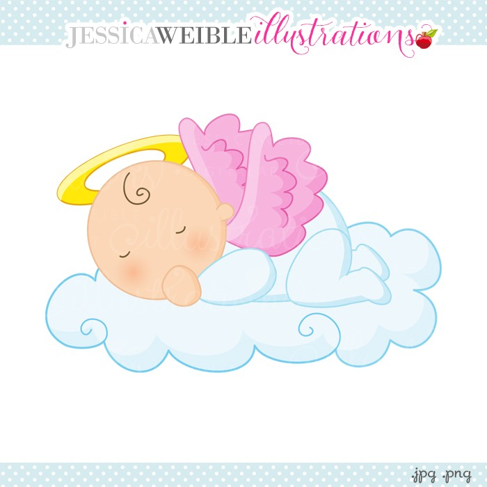 Baby Girl Angel Clipart.