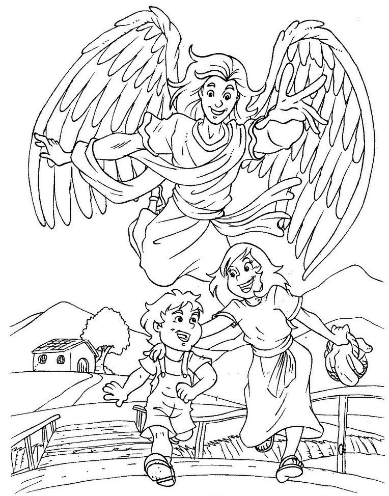 God\'s protection coloring pages.