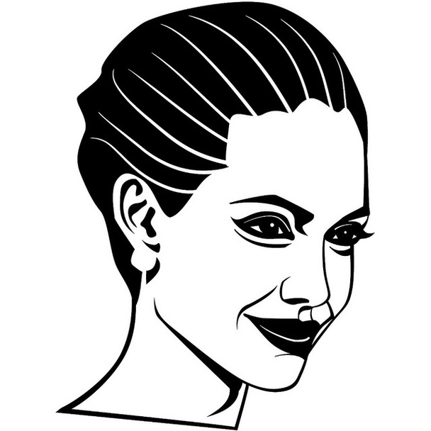 Clipart of angelina jolie.