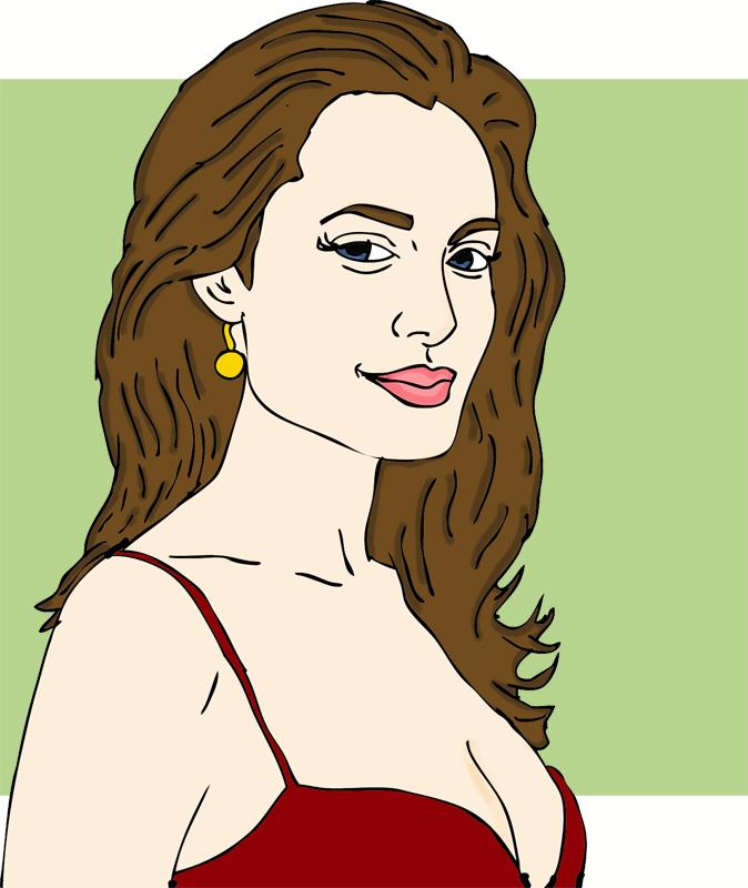 Angelina jolie clipart hd.