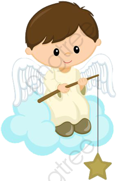 Catch The Stars Little Angel, Angel Clipart, Decorative Material.