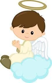 Resultado de imagen para angelito caricatura para bautizo.