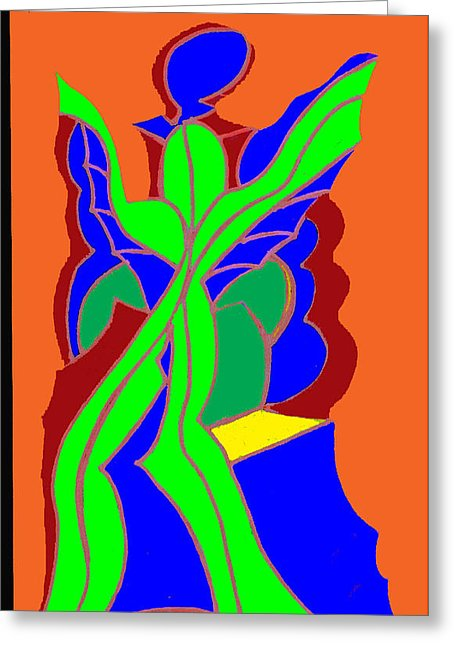 Green Angel Painting by Ken Gidge.