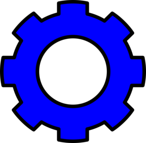 Blue Gears Clip Art at Clker.com.