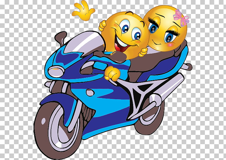 Emoticon Smiley Motorcycle Emoji , couples , two emoji.
