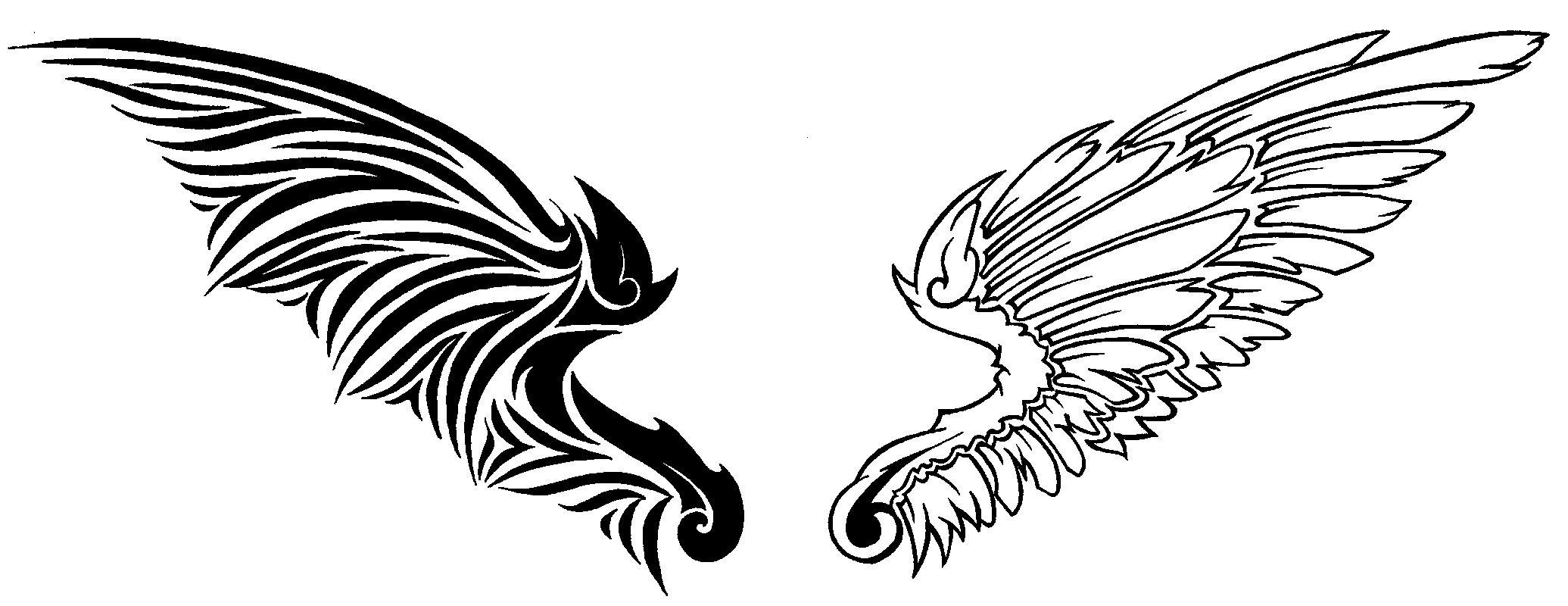 Angels and demons wing clipart clipart images gallery for.
