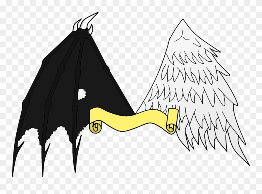 Angel And Demon Png Graphic Transparent.