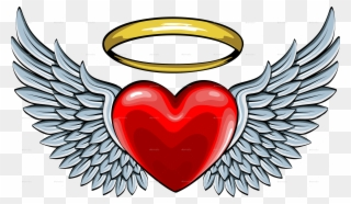 Free PNG Angel Wings Heart Clip Art Download.