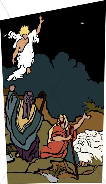 Angels and shepherds clipart 3 » Clipart Portal.